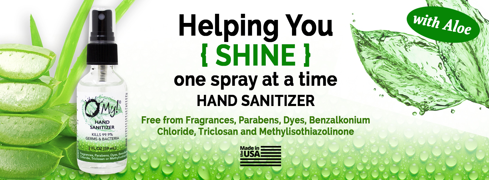 O My! Hand Sanitizer - Made in USA - 70% Alcohol