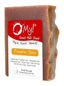 O My! Goat Milk Soap 6oz Bar - Pumpkin Spice | Made with Farm-Fresh Goat Milk | Moisturizes dry skin | Gently Exfoliates | Paraben Free | Leaping Bunny Certified | Made in USA
