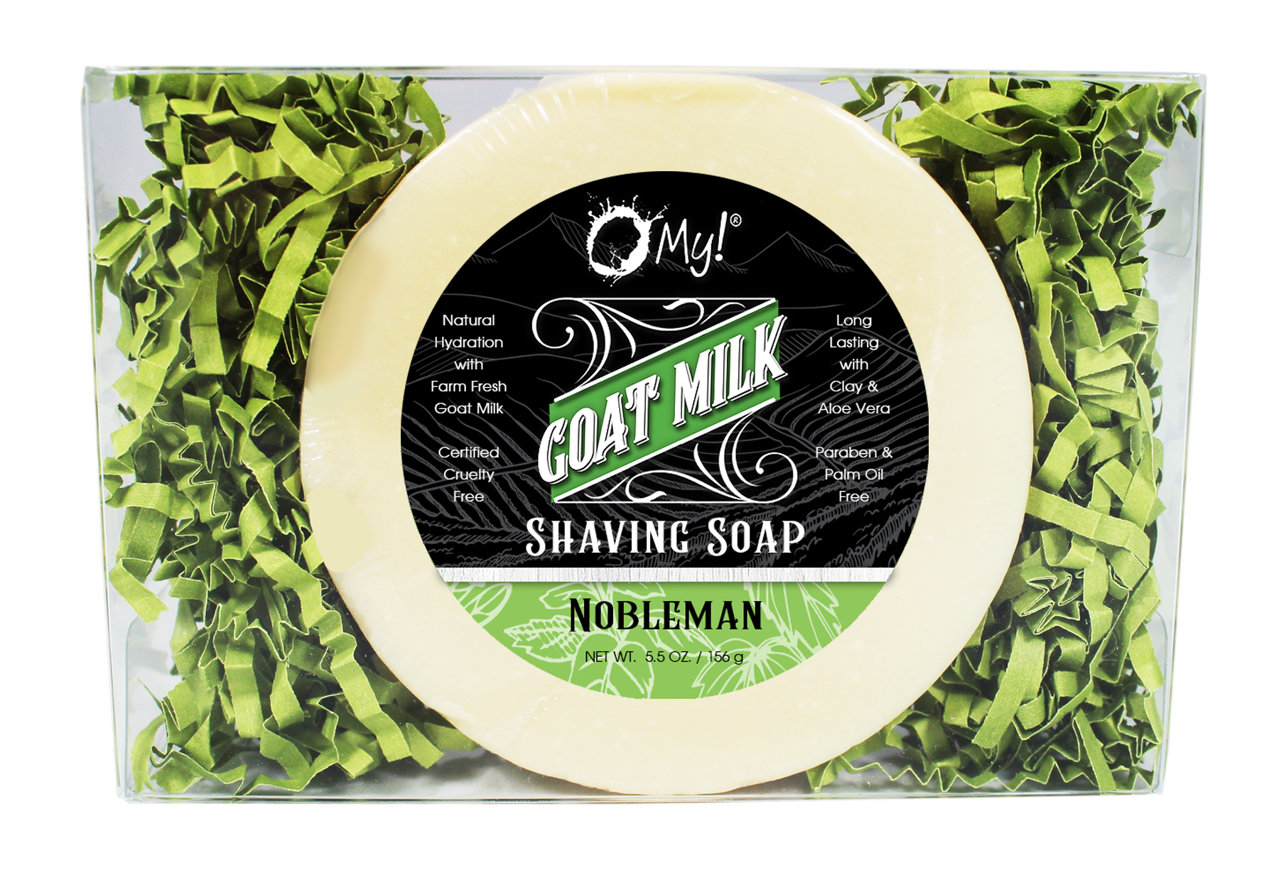 O My! Goat Milk Shaving Soap Gift Box - Nobleman | Bundle of 3 | Begin your love for healthy, goat milk wet-shaving today with O My! | Paraben Free | Leaping Bunny Certified | Handmade in USA