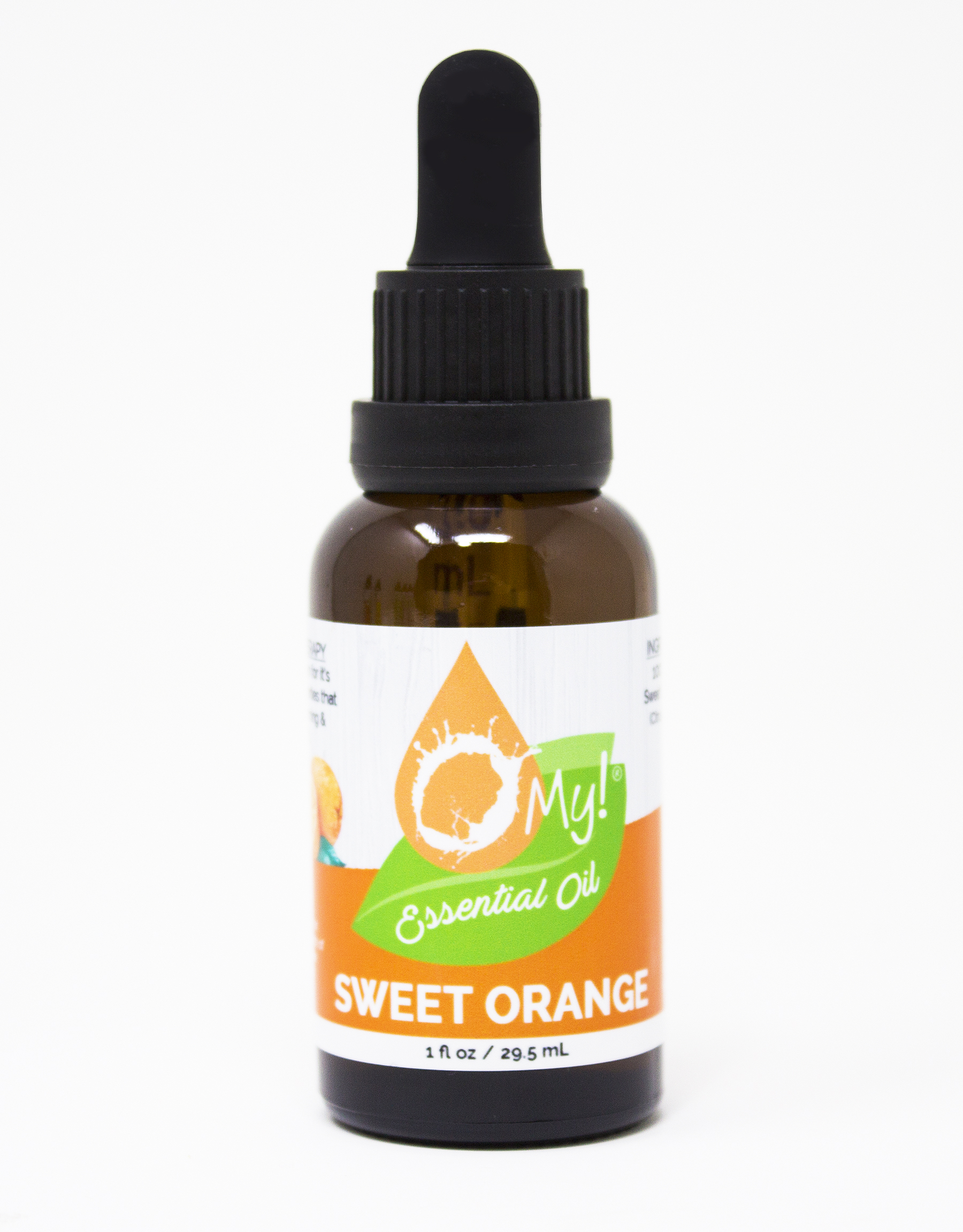 O My! 100% Pure Essential Oil 1oz - Sweet Orange | O My! 100% Pure Essential Oil1oz  Bottles with Graduated Droppers | Child-resistent, Tamper-proof | Start your Aromatherapy Plan today!