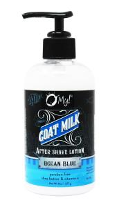 O My! Goat Milk After Shave Lotion 8oz - Ocean Blue | Bundle of 3 | Lather with Goat Milk After-Shave Lotion | Paraben Free | Shea Butter & Vitamin E | Leaping Bunny Certified | Handmade in USA