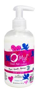 O My! Goat Milk Lotion 8oz - Lovers Spell | Bundle of 3 | Made with Farm-Fresh Goat Milk | Paraben Free | Hydrating with Shea Butter & Vitamin E | Leaping Bunny Certified | Handmade in USA