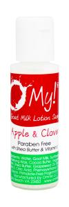 O My! Goat Milk Lotion 0.5oz - Apple & Clover | Made with Farm-Fresh Goat Milk | Paraben Free | Hydrate with Shea Butter & Vitamin E | Leaping Bunny Certified | Handmade in USA