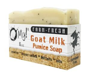 O My! Goat Milk Pumice Soap 6oz - Citrus | Made with Farm-Fresh Goat Milk | Pumice to Gently Cleanse | Gently Exfoliates | Paraben Free | Leaping Bunny Certified | Made in USA