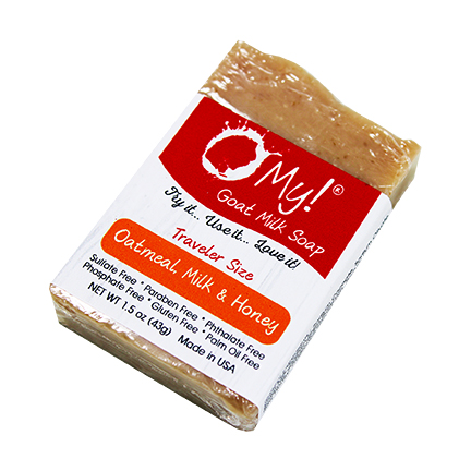 O My! Oatmeal, Milk & Honey Goat Milk Traveler Soap - 1.5oz