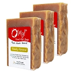 OMy! Goat Milk Soap 6oz Bar - Bundle of 3 - Toasty Almond