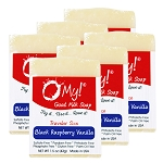 OMy! Goat Milk Soap Traveler 1.5oz Bar - Bundle of 6 - Black Raspberry Vanilla
