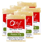 OMy! Goat Milk Soap Traveler 1.5oz Bar - Bundle of 6 - Mission Fig