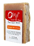 O My! Goat Milk Soap 6oz Bar - Oatmeal Milk & Honey | Made with Farm-Fresh Goat Milk | Moisturizes dry skin | Gently Exfoliates | Paraben Free | Leaping Bunny Certified | Made in USA