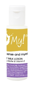 O My! Goat Milk Lotion .5oz - Frankincense & Myrrh | Made with Farm-Fresh Goat Milk | Paraben Free | Hydrating with Shea Butter & Vitamin E | Leaping Bunny Certified | Handmade in USA