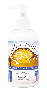 O My! Goat Milk Lotion 8oz - Rugged | Made with Farm-Fresh Goat Milk | Paraben Free | Hydrating with Shea Butter & Vitamin E | Leaping Bunny Certified | Handmade in USA