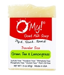 O My! Green Tea and Lemongrass Goat Milk Traveler Soap - 1.5oz