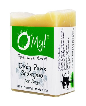 O My! Goat Milk Dog Shampoo 3z | Made with Natural Farm Fresh Goat Milk and Five Essential Oils | Intended for Small Dogs | Paraben Free | Leaping Bunny Certified | Handmade in USA