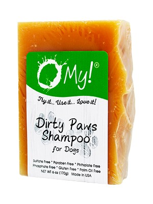 O My! Goat Milk Dog Shampoo Big 6z | Made with Natural Farm Fresh Goat Milk and Five Essential Oils | Intended for Large Dogs | Paraben Free | Leaping Bunny Certified | Handmade in USA