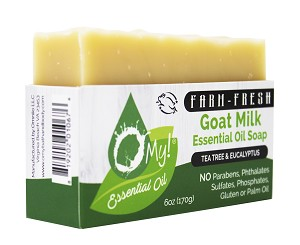 O My! 100% Pure Essential Oil Goat Milk Soap 6oz - Tea Tree