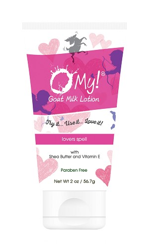 O My! Goat Milk Lotion 2oz - Lovers Spell | Bundle of 3 | Made with Farm-Fresh Goat Milk | Paraben Free | Hydrating with Shea Butter & Vitamin E | Leaping Bunny Certified | Handmade in USA