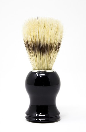 O My! Natural Boar Bristle Shaving Brush - Black | Bundle of 3 | For a Clean-Cut Wet-Shave Every time | Handle offers a Perfect Grip | Bristles provide an Outstanding Shave!